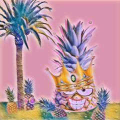 freetoedit dailyremix pineapple palmtree pineappleremix