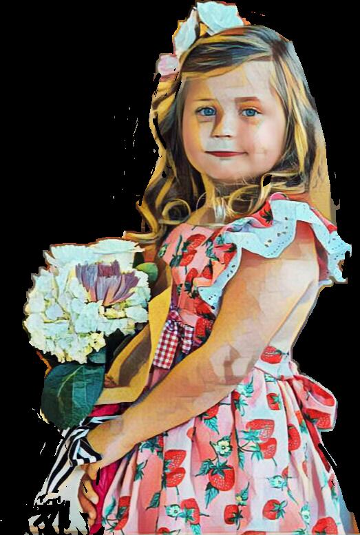 #littlegirl #flowers