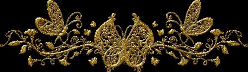 gold butterflies fancy border freetoedit