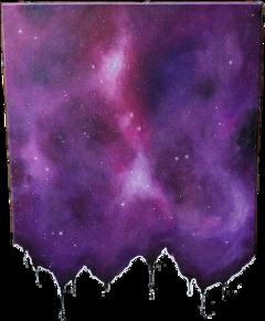 sticker space purple galaxy freetoedit