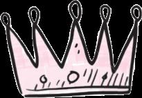 #crown queen pink tumblr sweet