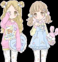 cuties chibis girlslove freetoedit