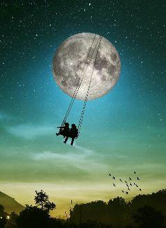 edited fantasy moon surreal shadows freetoedit