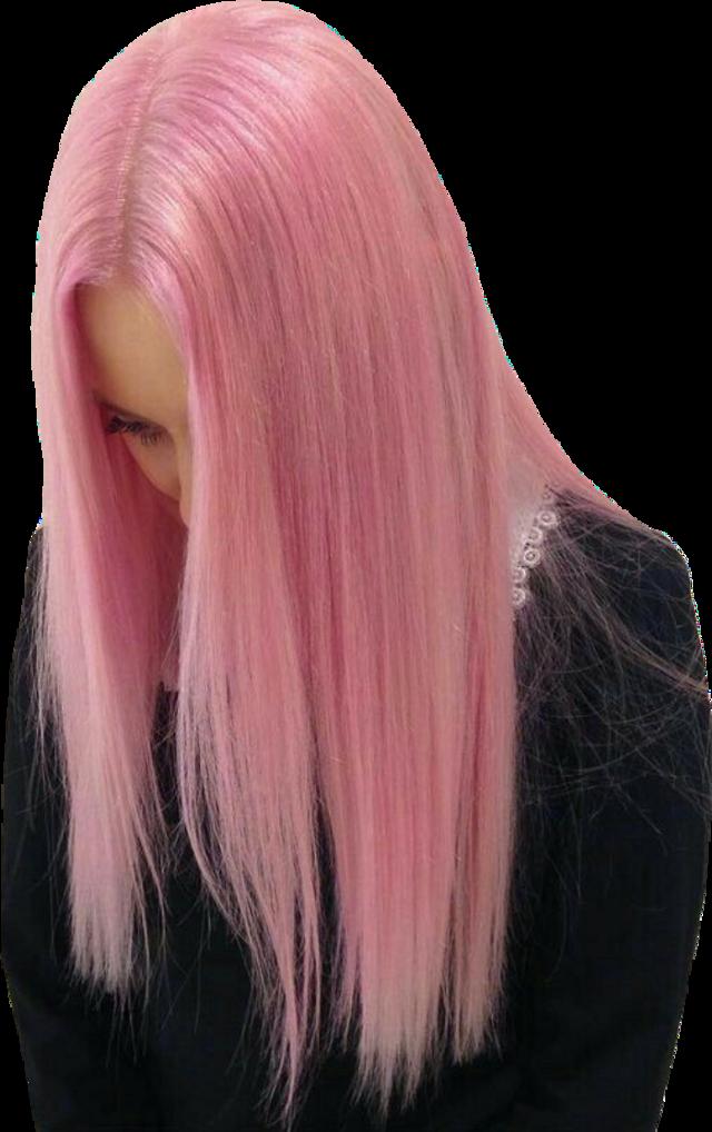 #freesticker #freestickers #pinkhair #pastelhair #pastelpink #girl #lookingdown #blacksweater