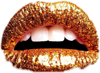 lips lipstick art gold freetoedit