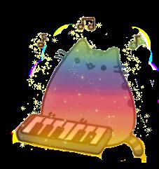 rainbow cat pusheen music