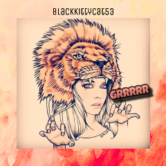lion animalhat drawings girlpower grrr