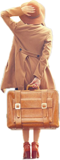 girl suitcase brown freetoedit