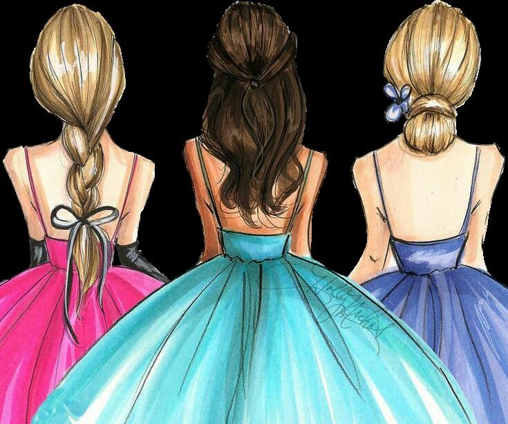 #girl #hair #friends #vestido #madrinhas #amigas