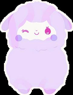 sheep purple freetoedit