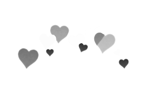 black white grey gray hearts blackhearts whiteheartsfre