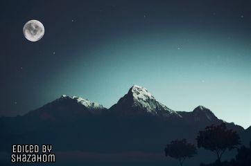 freetoedit shazahom1 moonlight stars emotions