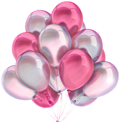 ballons fuscia pink globos party
