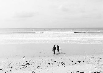 beach blackandwhite surf sport sea