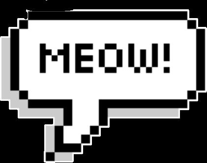 #meow #cat #pixelspeechbubbles #pixel #speach #bubble #speachbubble #FreeToEdit