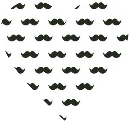 #heart #love #cute #mustache #cool #awesome