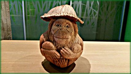 berlin biosphärepotsdam coconut monkey handcrafted