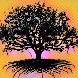 neopop multiply tree picsart nature