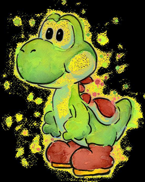 #yoshi #nintendo #videogames, #watercolor