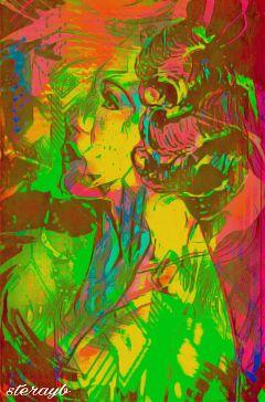 psychedelic colorful popart retro vintage