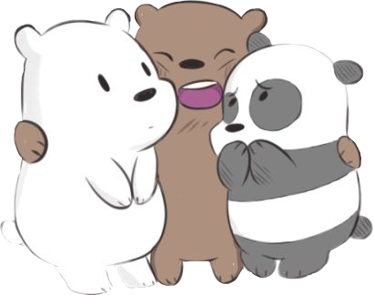 Sticker Escandalosos Polar Panda Pardo Cute Hug Freetoedit 231128547054212 on The Three Bears
