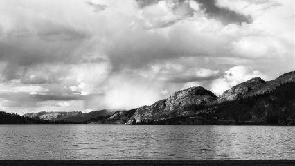 photography blackandwhite mountains canada