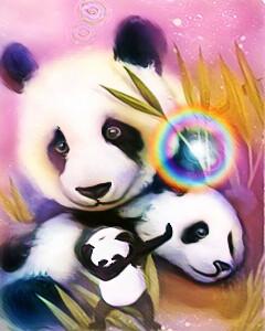 #FreeToEdit #panda #dabdance #pandafamily #pastelmagiceffect #animals #nature #petsandanimals #cute #loveandhappiness
