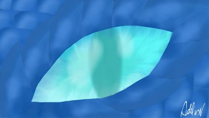 myart drawing dragon blue noreference