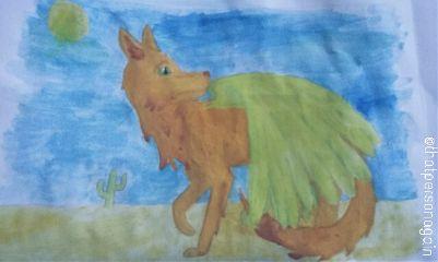 myart wolf winged fantasyart watercolor
