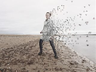 dispersion beach england girl peaceful