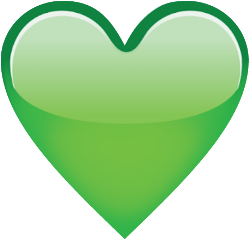 emoji heart green freetoedit