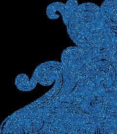 waves swirl bluewaves doodle ftestickers