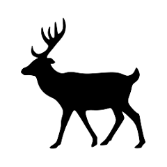 ftestickers silhouette deer freetoedit