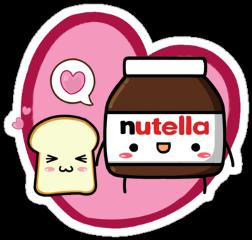 nutella bffs breakfaststickers bestfriendsforever kawai