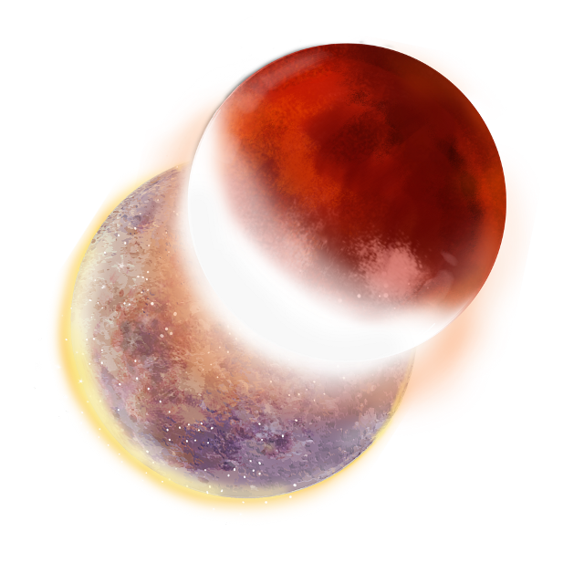 #eclipse #planets #moons #moonstickers #space