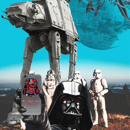 freetoedit starwars darthvader clone starship