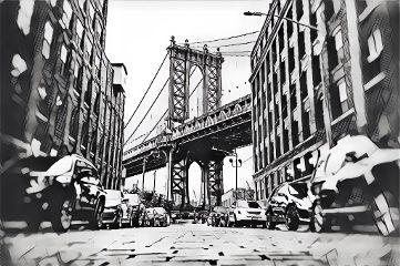 freetoedit shadesofgrey magiceffect street bridge