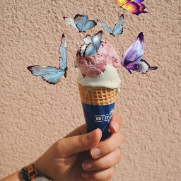 butterflies icecream summer joy freetoedit