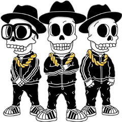rundmc skeletons hiphop freetoedit
