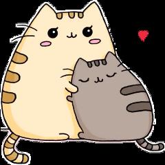 pusheencat love mom freetoedit