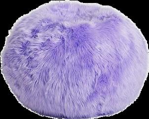purple furry chair seat freetoedit