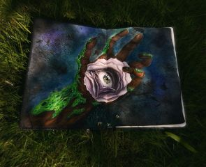 dpcpainting drawing flower nature eye