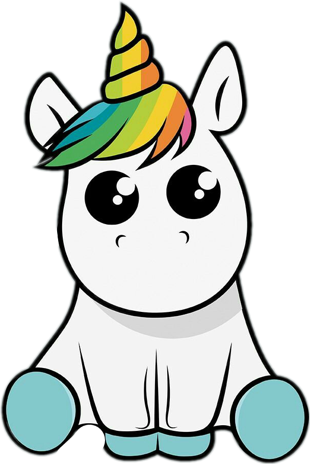 Unicorn Unicornio Tumblr Cute Fofo Stickers Remixit