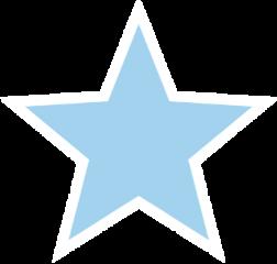 stickers sticker blue lightblue star