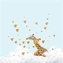animals giraffes love clouds giantanimals