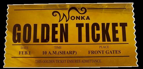 willywonka ticket candy freetoedit