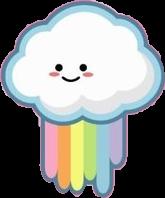 freetoedit cute kawaii rainbow cloud