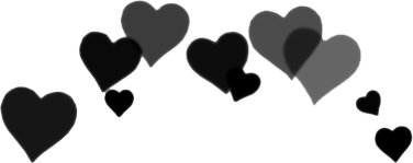 hearts black grunge freetoedit