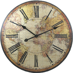 reloj vintage coffe freetoedit