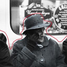 freetoedit woman hat subway metro